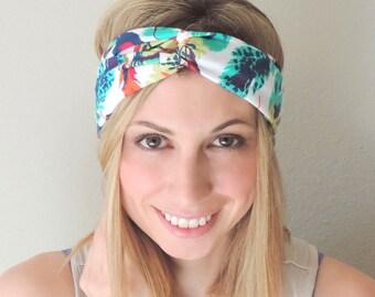 Turban Headband Feather - Twist Headband - Twisted Knot Headband - Headbands for Women - Boho Headband - Yoga Headband - Workout Headband