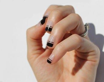 Black Piper Transparent Nail Wraps