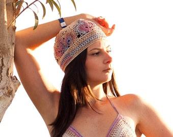 Beanie hat Handmade beanie Crochet beanie hat Girl hat Girl beanie Womens hat Custom hat Womens crochet hat Summer hat