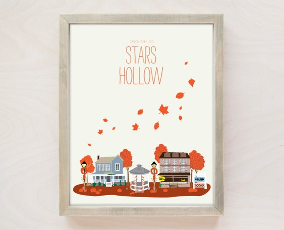 Fall In Stars Hollow Wall Art | Gilmore Girls Gift Guide