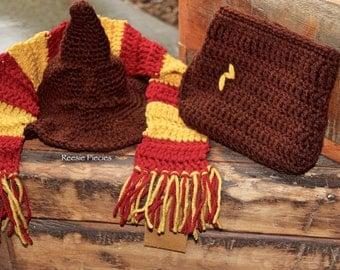 Harry Potter Sorting Hat Set, Harry Potter Photo Prop, Harry Potter Baby Gift, Harry Potter Newborn Prop, Harry Potter Hat, Christmas Gift