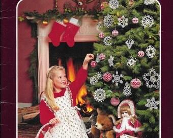 DMC Festive Tatting Pattern Book Christmas Tree Ornaments and Snowflakes