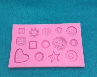 Buttons Galore Silicone Mold for polymer clay