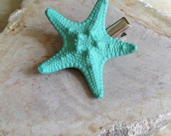 Starfish Hair Clip Sea Foam Ocean Hairstyle Summer Beach Wedding Mermaid Costume Halloween Hawaii Luau Tropical Music Festival Small Knobby