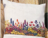 Floral Parade Cross Stitch Chart - Mary Hickmott's New Stitches Magazine #65 Pull Out Pattern, English Cottage Garden Flower Bed, Pillow
