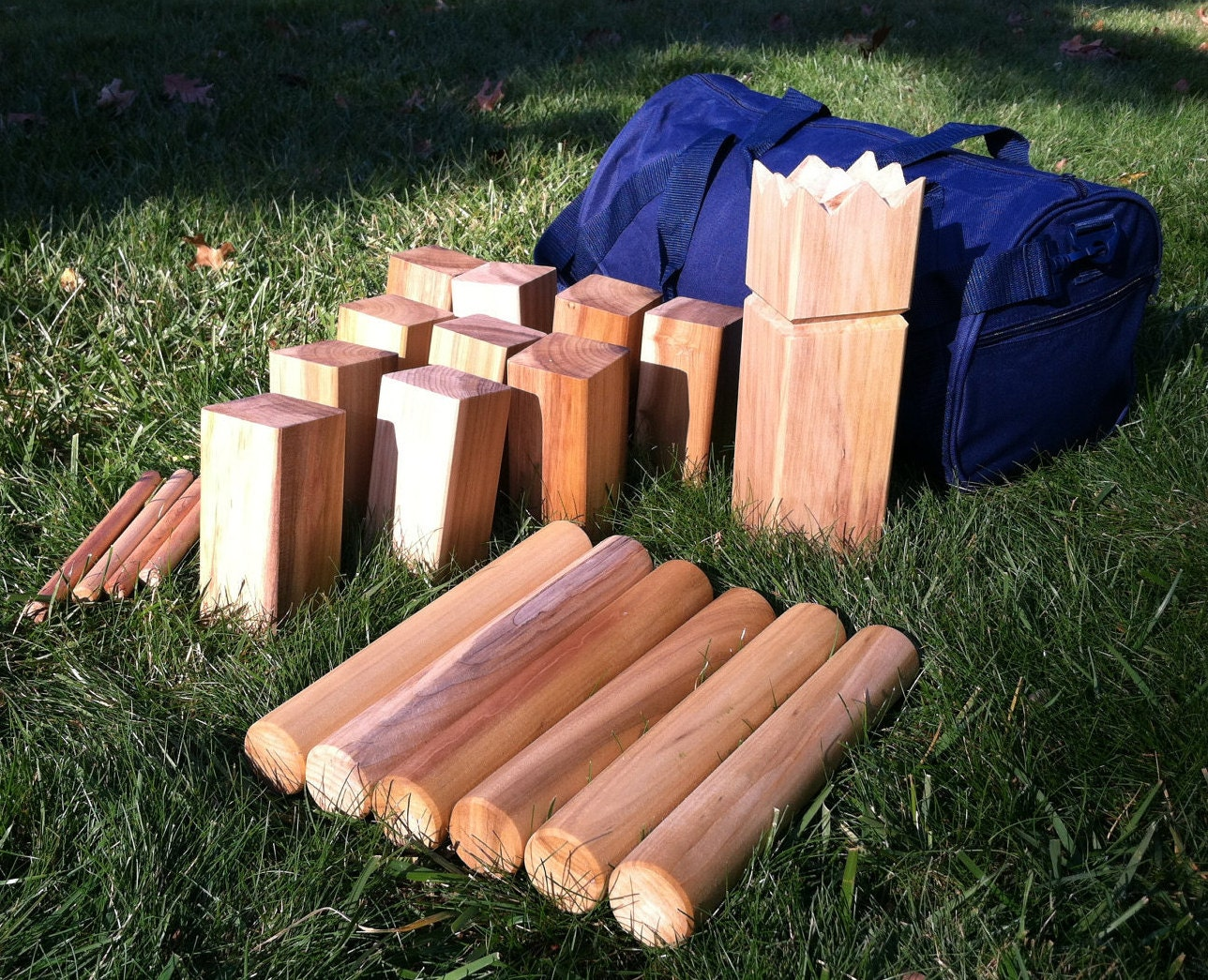 Kubb The Viking Game Natural Beeswax Finish Hardwood