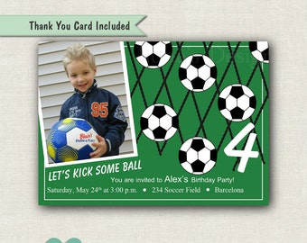 Soccer Party Invitation - Soccer Birthday Invitation - Sports Invite - Printable Party - Soccer Invitation