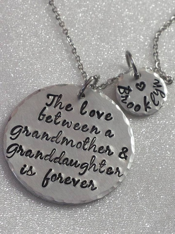Grandmother Gift - Grandma Jewelry - The Love Between a Grandmother and Granddaughter - Personalized Gift for Grandma - Granddaughter Gift