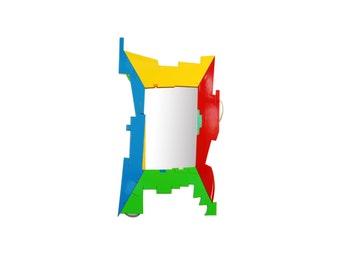 Bright Frame Bathroom Art – Puzzled Wall Mirror