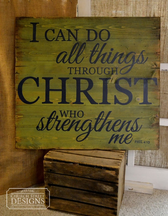 Items Similar To Bible Verse Sign I Can Do All Things