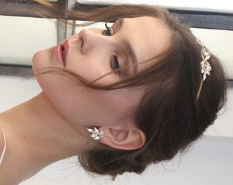Bridal Cluster Earrings, Wedding Earrings, Swarovski Earrings, Wedding Jewelry Bridal earings, bridal earrings , bridal jewelry
