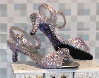 Splendiferous Purple Shoes - Purple Wedding Shoes - Womens Shoes Size 8 - Wedding Accessories - Party Accessories - Low Heel Shoes