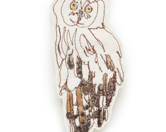 Owl Embroidered Brooch