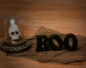 Miniature Halloween Wooden Letters for Your Dollhouse