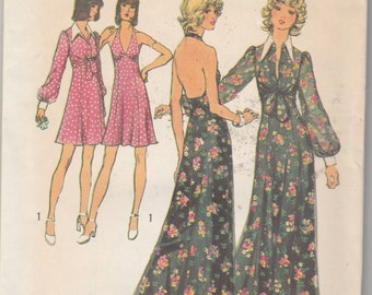 Simplicity 5561  Misses' Halter Dress in Two Lengths and Unlined Jacket  Bust 34""