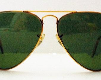 Ray Ban Aviators 58 14 Sunglasses Vintage Retro