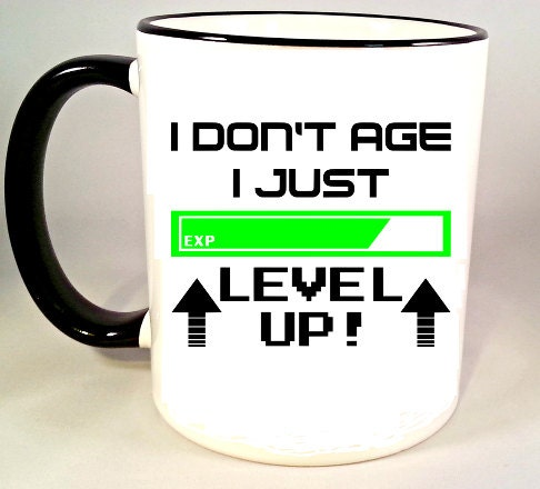 Funny Coffee Mug Video Game Mug Geeky Coffee Cup Level Up