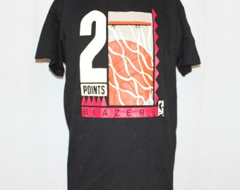 Vintage Deadstock Portland Trailblazers Chalk Line NBA T-Shirt M