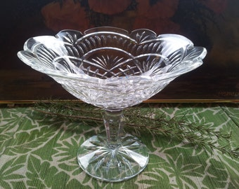 Huge Waterford Crystal Artisan Compote Footed Centerpiece