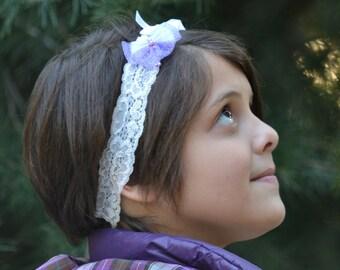 Purple butterfly, butterfly crown, butterfly headband, whimsical headband, polka dot headband, toddler headband, girls headband, headband