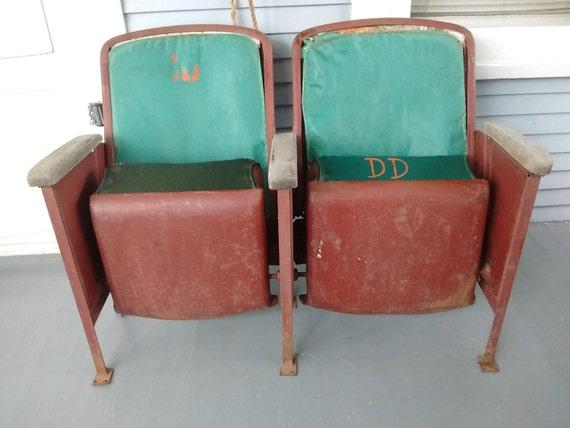 Vintage Movie Theater Seats Bucket Seats Metal