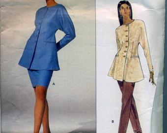 Vintage Vogue Paris Original Claude Montana Pattern sizes 6-8-10 from 1991