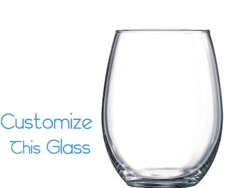Customizable 17oz Stemless Wine Glass