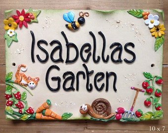 Personalised Garden Sign - Ceramic and Design your own
