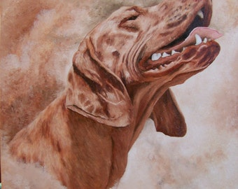 Custom Pet Portraits Oil Painting, 12in x 16in Photo is Example Only