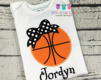 Baby girl basketball outfit - Baby girl basketball shirt - personalized outfit - basketball shirt