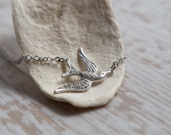 Silver Sparrow Necklace, Freedom, Graduation, Daughter, Sister, Best Friend