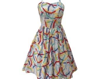 1980s halter neck vintage party dress