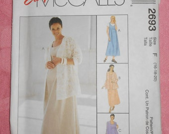 McCalls Maternity Sewing Pattern #2693- Size 16-18-20