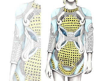 Balmain / Fashion Illustration / Fashion Print