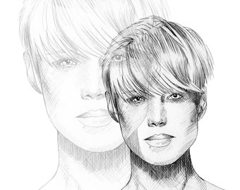 Androgyny / Fashion Illustration / Fashion Print