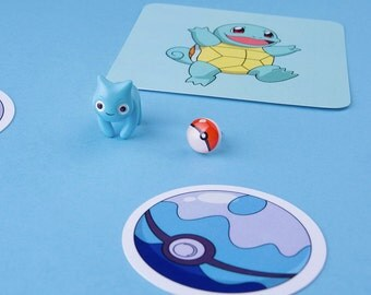 Squirtle Cat Earring / Nine studs