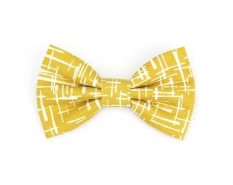 Mustard Yellow Dog Bow Tie Autumn Haystack Cat Bow Tie Pet Bowtie