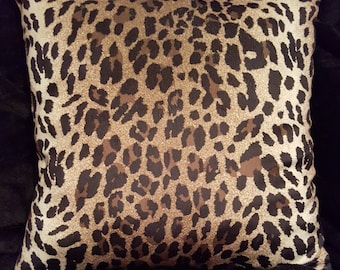 Safari Me Leopard Print Pillow