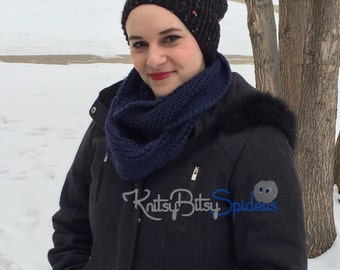 Open Twist Rib Knit Scarf - READY TO SHIP