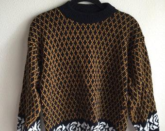 Mustard Rose Sweater