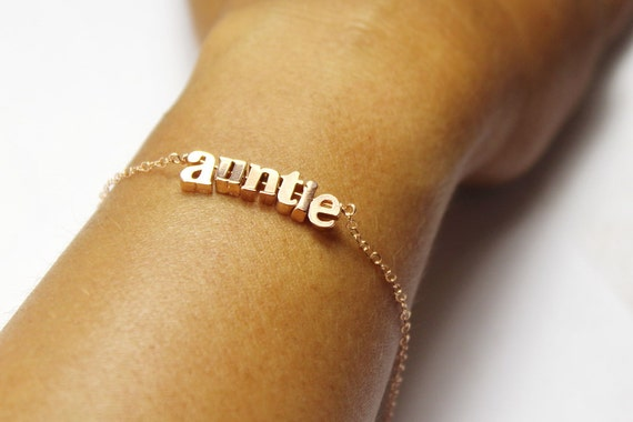 Rose Gold Letter Bracelet Name Bracelet Personalized Up To