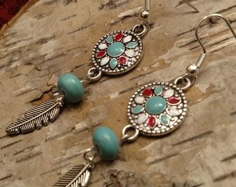 Southwestern vibe drop earrings