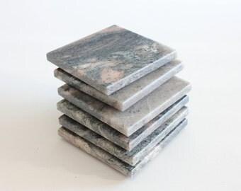 Stone Coasters Set Of Six From Natural Stone Granite Marinachi New