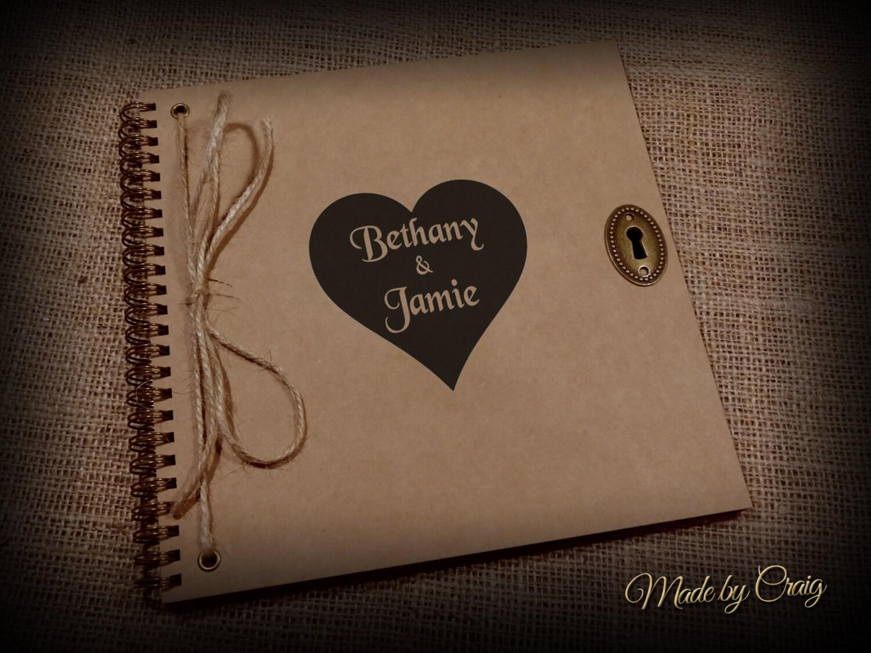 How to scrapbook wedding album - Personalised Couples Scrapbook Photo Album Honeymoon Anniversary Engagement Wedding Gift Present Custom Printed Brown Kraft