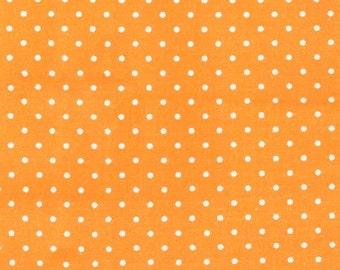 Polka Dot Fabric, Pindot Fabric - Pinhead, Michael Miller Fabric CX 5514 Apricot - 1 /2 yard
