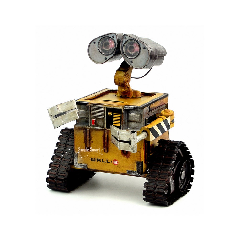 1950s Toys Metal Curtain Wall : Retro style wall e robot metal model hand made toy car