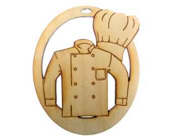 Chef Ornament - Chef Ornaments - Chef Gifts  - Chef Christmas Ornaments - Gift for Chef - Chef Art - Chefs Gift Idea - Personalized Free