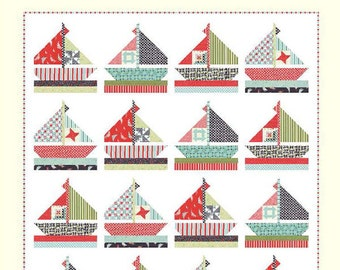 SMOOTH SAILING Cotton Way Quilt Pattern by Bonnie Olaveson of Bonnie & Camille