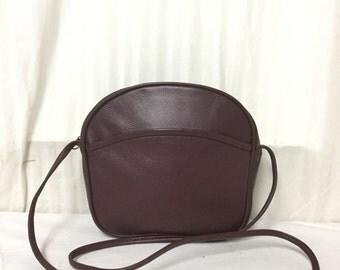 Carlos D'Santi,Leather purse, Burgundy, Leather ,bag,purse,Shoulder Bag, Soft