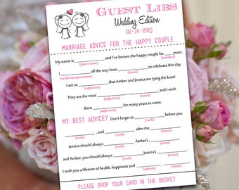 Diy wedding information card template please call anyone for Guest libs wedding edition template